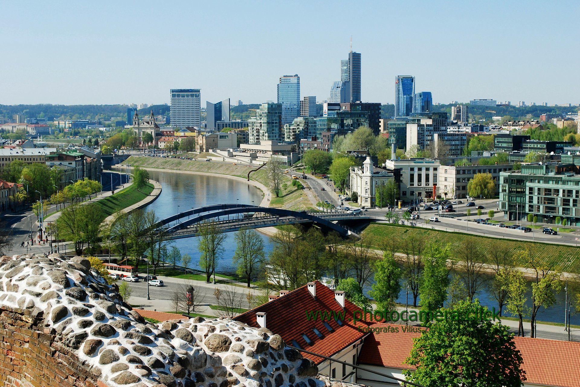Vilnius city view from Gediminas castle